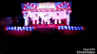 Dem boys Crew Pawan Chhetri and Karan Pritam dance on the stage