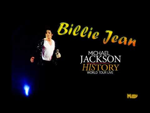 Michael Jackson- Billie Jean- Studio Version- History World Tour- Tunez- 1996