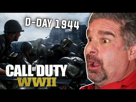 """Dad Reacts to """"D-Day Omaha Beach Landing"""" Mission In Call of Duty: WW2"""