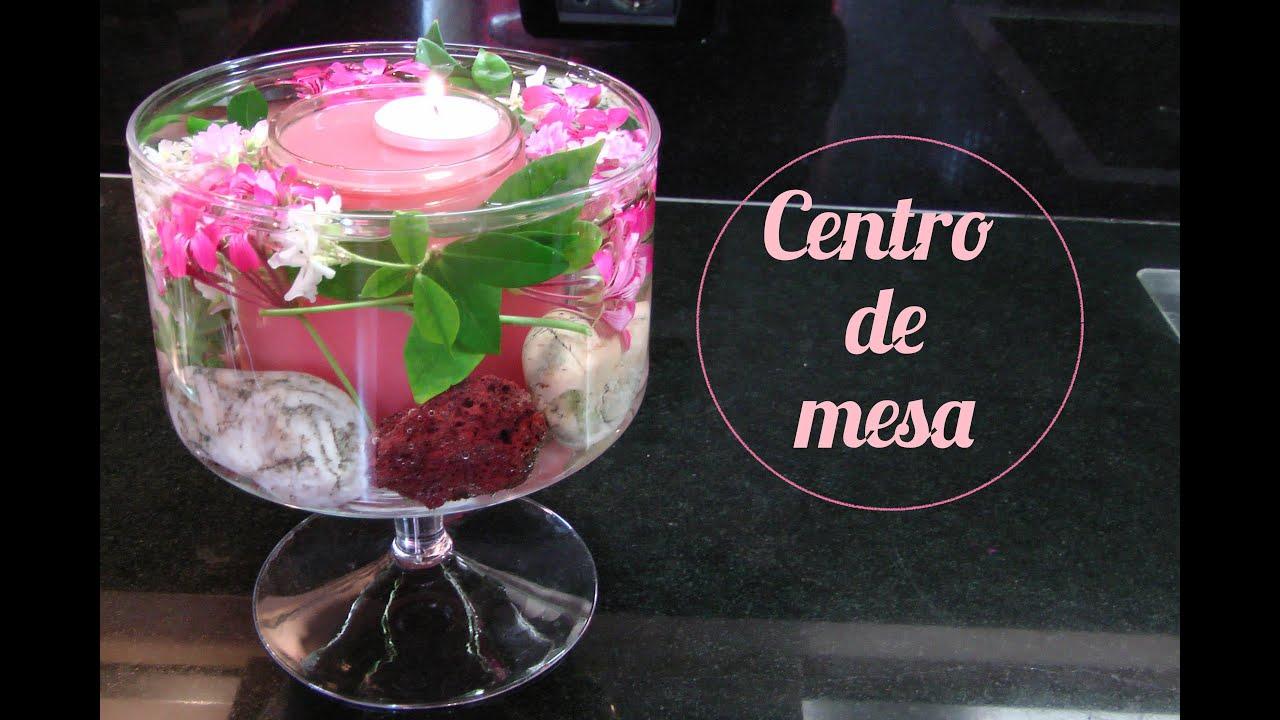 centro de mesa con flores naturales sumergidas con vela flotante centerpiece