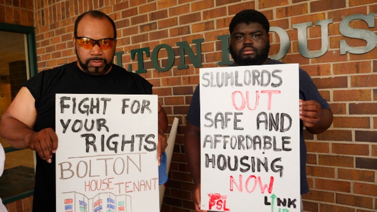 Bolton House Tenants continue to Protest Deteriorating Living Conditions at Bolton House.