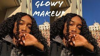 grwm glowy makeup ft unice hair