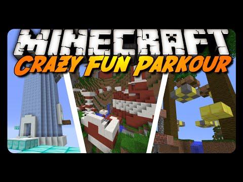 Minecraft: CRAZY FUN PARKOUR 2! (Custom Map)