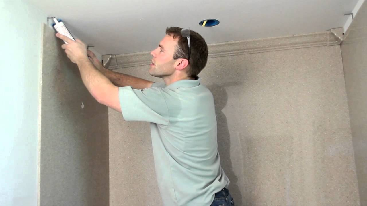 Onyx Shower Installation - Crown Molding - YouTube