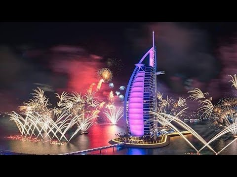 Burj Al Arab Dubai New Year Fire Works 2018 |