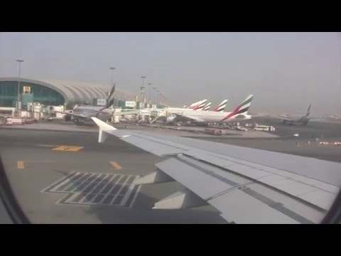 Emirates Airbus A380 Taxi & Take-off from Dubai International Airport, UAE - 9th September, 2015