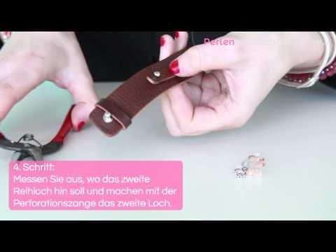 DIY: Cuoio Armband mit Perlen und Swarovski