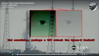 Space-X Rocket Attacked by UFO?