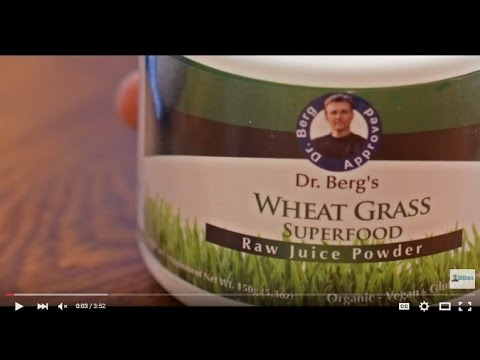 Dr. Berg's Raw Wheat Grass Juice Powder: how to use it