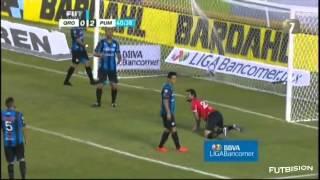 Querétaro vs Pumas 1-3 Jornada 1 Apertura 2014 Liga Bancomer MX - Goles