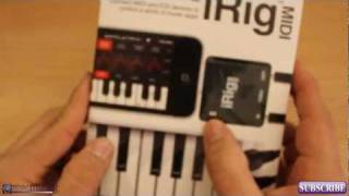 iRig MIDI Unboxing / Review -  IK Multimedia - MIDI Interface for iPhone iPad and iPod
