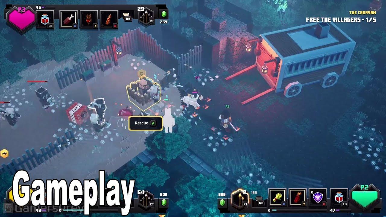 Minecraft Dungeons Gameplay Demo Minecon 2019 Hd 1080p