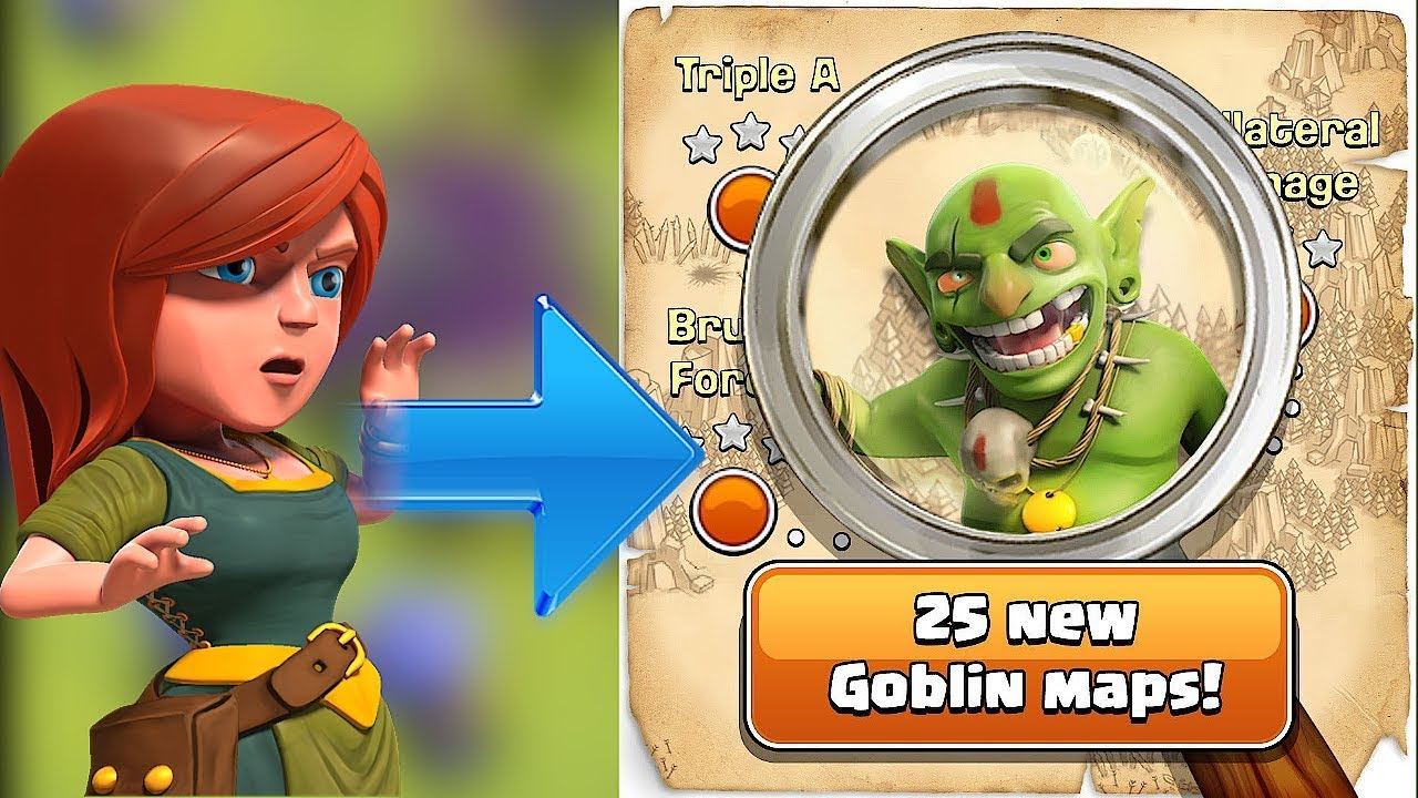 "The Goblin KING! is BACK! ""Clash Of Clans"" 25 NEW maps!!"