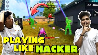 FREEFIRE RANK MATCH || PLAYING LIKE A HACKER || ARE WE USING AIM BOT😂 || LIVE REACTION