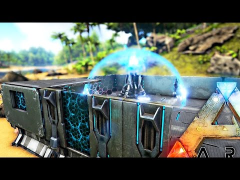 ARK Survival Evolved - HOW MUCH DAMAGE CAN A TEK SHIELD GENERATOR TAKE, NEW TEK ITEMS ( Gameplay )
