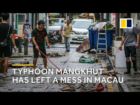 Macau recovering from Typhoon Mangkhut's destruction