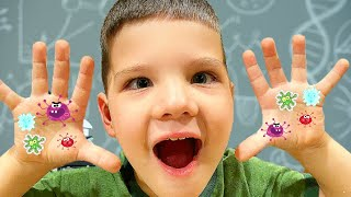 GERMS Kids Science Experiment! Caleb Learns How to Wash Your Hands For Kids