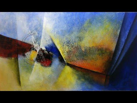 b18c29978 Curso de Pintura em Tela - Abstrato Dinâmico - - YouTube