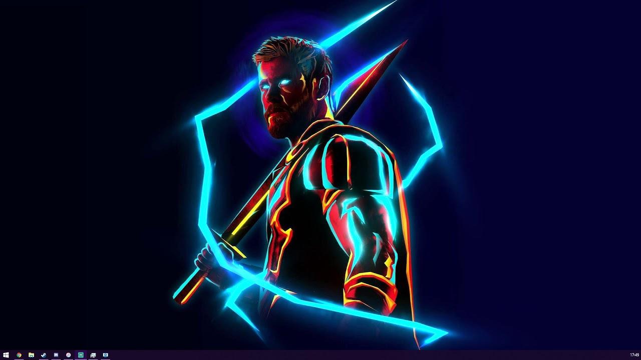 Neon Thor - Wallpaper Engine - YouTube