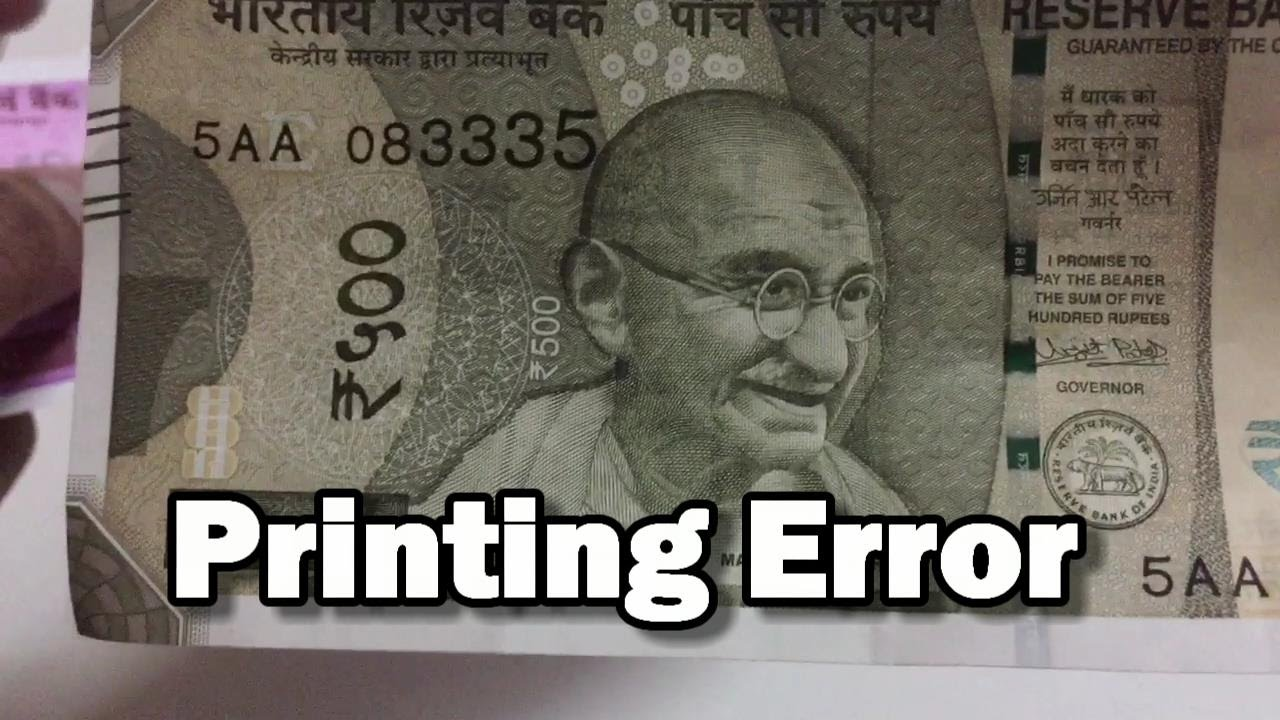 New 500 Rs note printing error   security features   RBI error  