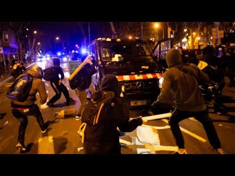 Barcelona riots: Dozens arrested after demonstrations against jailing of rapper Pablo Hasel   Spain