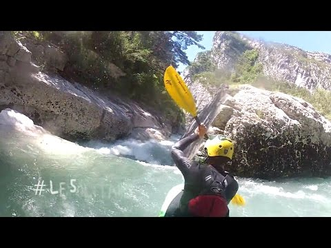Tandem Kayaking the Verdon Grand Canyon with Ride the Verdon©