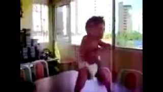 little Indian boy dancing in an Indian song,too funny