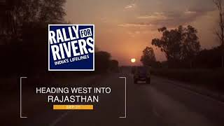 Driving into the pink city with appropriate ambience in the sky #RallyForRivers
