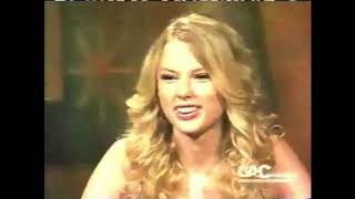 "Taylor Swift interview and ""Our Song"" a capella (2008)"