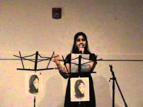 Anusha performing Jate Ho To Jao at Hawaon Ke Tarane fund raiser in Boston