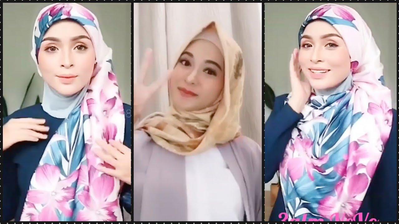 لفات حجاب سهلة وبسيطة لخروجات العيد و الصيف😉لفات مريحة كتير أنيقة موضة 2020  hijab tutorial simple 😍