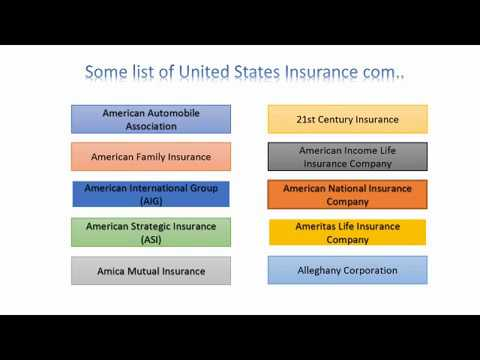 USA Insurance Company Quotes  Some list of.