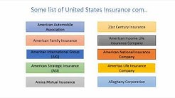 USA Insurance Company Quotes |Some list of.