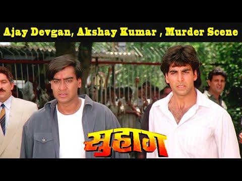 Ajay Devgan, Akshay Kumar ,Murder Scene | Suhaag Hindi Drama Movie