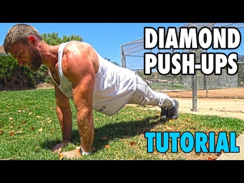 How To Perform Diamond Push Ups  - Bodyweight Exercise Tutorial