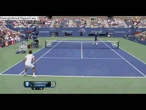 Novak Djokovic vs Julien Benneteau Highlights US OPEN 2012