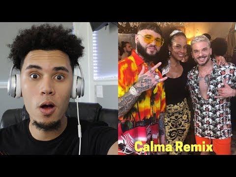 (REACCION) Pedro Capó, Alicia Keys, Farruko - Calma (Alicia Remix - Official Video)