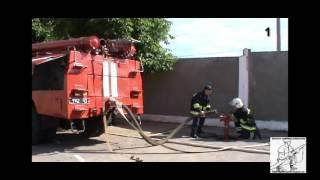 Установка автоцистерны  на пожарный гидрант