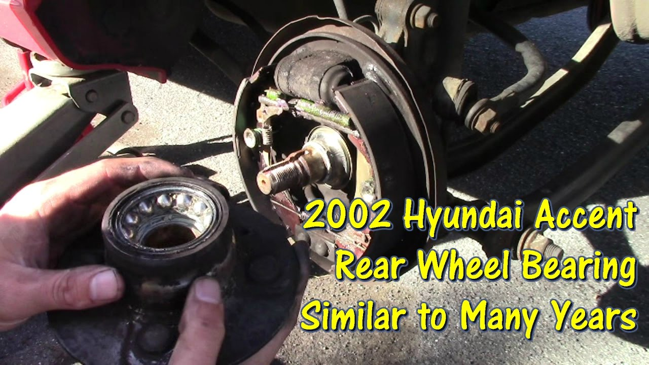 How to Replace Rear Wheel Bearings on Many 2000s Hyundai Accent by @GettinJunkDone  YouTube
