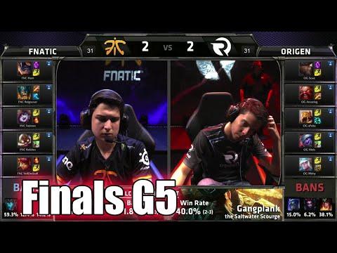 Fnatic vs Origen | Game 5 Grand Finals S5 EU LCS Summer 2015 Playoffs | FNC vs OG G5 Final