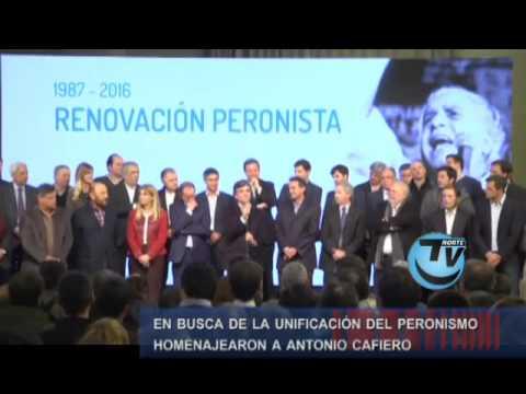 Homenaje a Cafiero organizado por el grupo Esmeralda