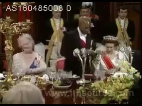 Dr Banda speech at Dinner hosted in his honor by the Queen at Buckingham Palace