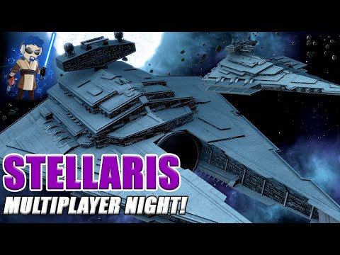 Stellaris - Star Wars Modded Multiplayer Action! Empire Vs Mandalorian Vs Geonisian Hive