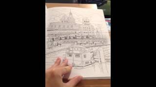 Livre de coloriages PARIS ET SES MERVEILLES format A4 - de Isy Ochoa - Edition du chêne