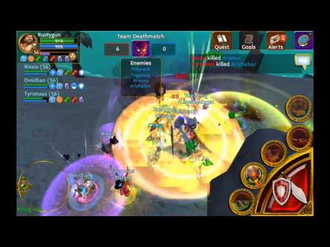 Nvidia Tablet + Controller With Arcane Legends Gameplay