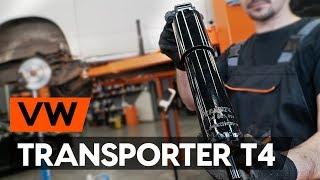 Wie Sie Stoßdämpfer Satz beim VW TRANSPORTER IV Bus (70XB, 70XC, 7DB, 7DW) selbstständig austauschen - Videoanleitung