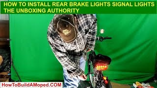 How to Install Rear Brake Lights Signal Lights How To Build a Motorized Bicycle Part 12