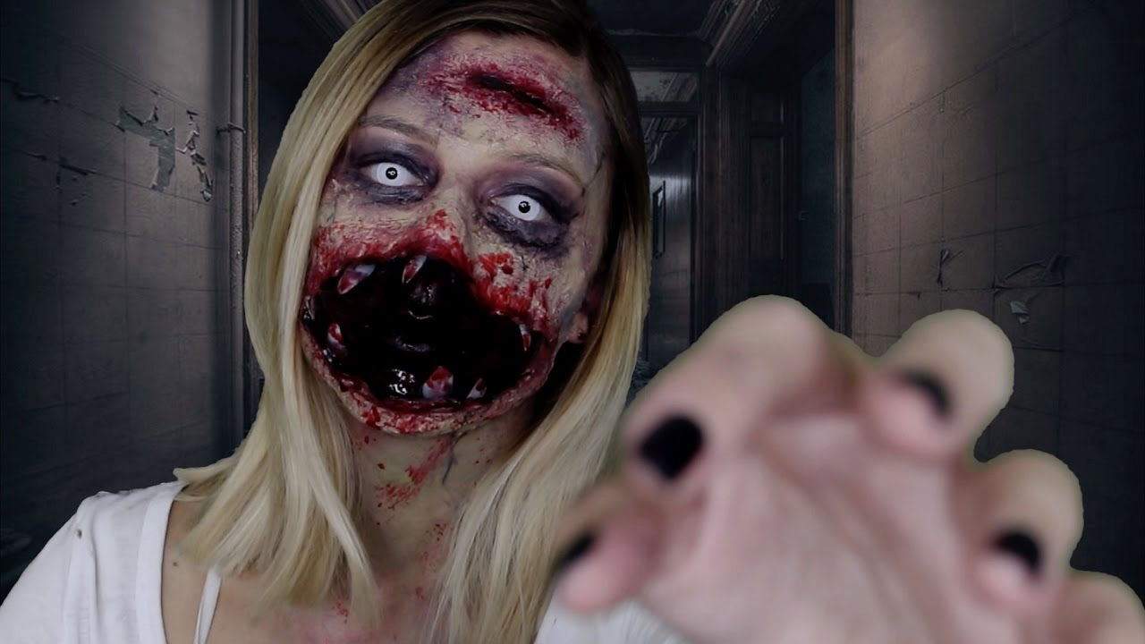 zombie maquillage halloween makeup tutorial youtube. Black Bedroom Furniture Sets. Home Design Ideas