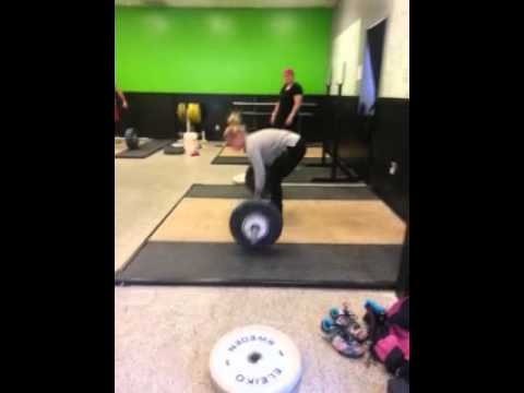 Crossfit Knoxville Barbell Club 45kg Power Snatch Double + OHS