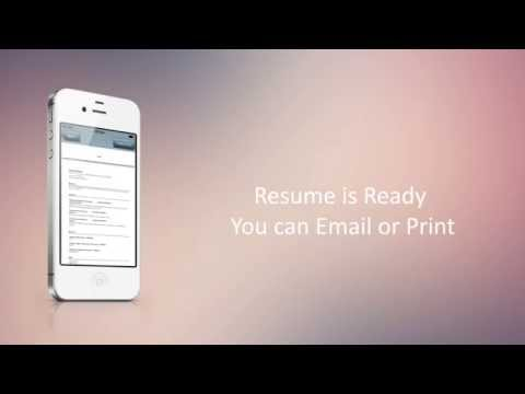 Charmant Easy Resume Builder Is A Free App And Is One Solution For Building An  Innovative And Leading Edge Resume/curriculum Vitae. If This Is The First  Time You Are ...
